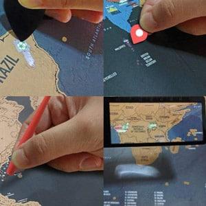 carte du monde à gratter de la marque Pootack