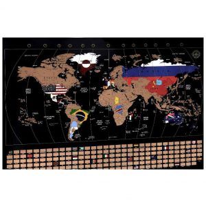 carte du monde à gratter XXL de la marque Anpro
