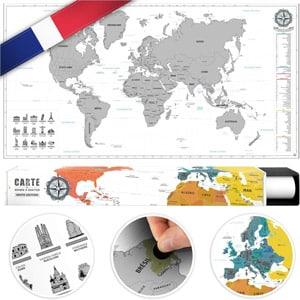 carte du monde à gratter en Gaulois de la marque #benehacks